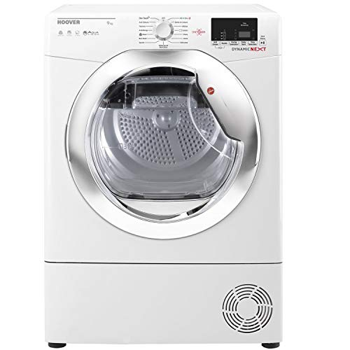Hoover DXC9DCE Dynamic Next Aquavision 9kg Freestanding Condenser Sensor Tumble Dryer With One Touch