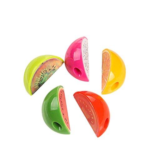 (LUCHA Bleistiftspitzer, Obst-Form, manuell, für Schule, Büro, für Kinder, Jungen, Mädchen, 10 Stück, zufällige Farbe)