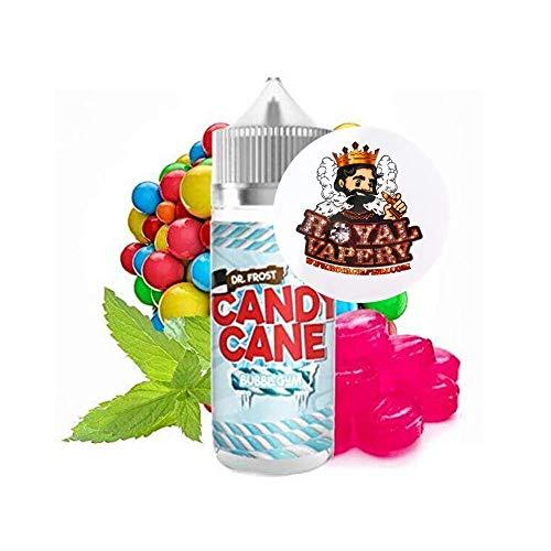 Dr Frost Candy Cane E Liquid 0mg Vape Juice 120ml Short Fill 100ml Liquid 70/30 30ml Shortfill 25ml EJuice No Nicotine Max VG EJuice Menthol Mint Fruity BubblegumSweet Candy Juice (Bubblegum, 100ml)