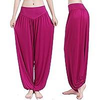 Weimay Yoga Pantalones Pantalones Largos Baggy Pantalones Elásticos para Mujeres Size S (Fuchsia 54)