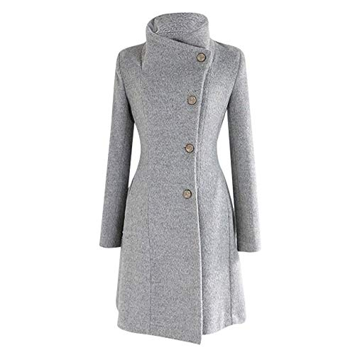 ALIKEEY_Cappotti donna Elegante Giacca Invernale con Bottoni Cintura in Lana con Risvolto Soprabito Manica Lu