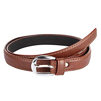 Krystle Girl's PU Leather Belt (Brown, Free Size)