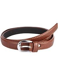 Krystle Women's PU Leather Belt (Brown, Free Size)