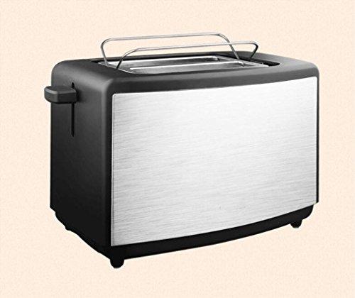 Große Elektro-röster (Happybeauty 2 scheiben Toaster 750W, erhellt Ihre Küche mit extra breiten Slots, versteckte Grill Custom Toasting Einstellungen mit Edelstahl fertig)
