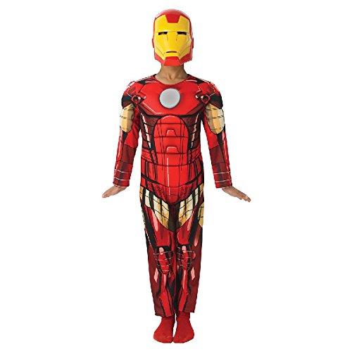 Iron Man Deluxe Kinder Kostüm Overall und Maske Gr.L (Iron Man Kostüm 8 9)
