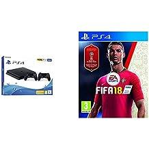 PlayStation 4 500GB, Black + 2°DS4 + FIFA 18 [Bundle]