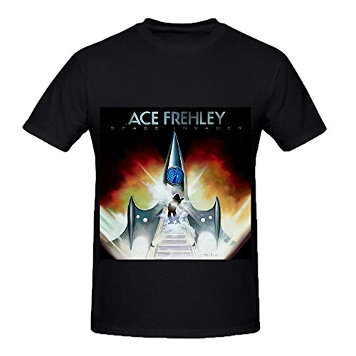 Ace Frehley Space Invader Homme Crew Neck Art T Shirts Medium