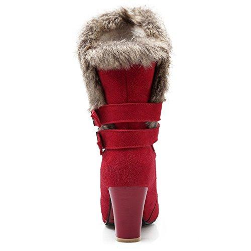 Coolcept Moda Messo Invernali Donne Stivali Rosso qxAHgz