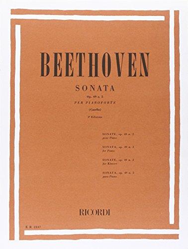 Sonata Op. 49 N. 2 par Ludwig van Beethoven