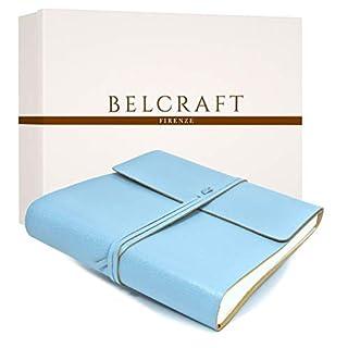 Dolci Babyalbum Leder, Fotoalbum, Elegantes Geschenk mit Geschenkbox, Handgearbeitet in klassischem italienischem Stil, Aqua