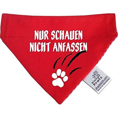 KLEINER FRATZ Hunde Durchzugstuch (Fb: Aqua-Kobalt) (Gr.S – 16 x 11 cm) Nur schauen Nicht anfassen