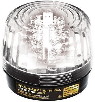 Seco-Larm Enforcer LED Strobe Light, Clear Lens (SL-1301-BAQ/C) by Seco-Larm