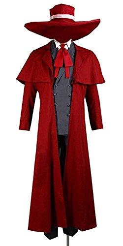 CosDaddy®Hellsing Alucard Uniform Cosplay Kostüm Maßgeschneidert (Kostüm Cosplay Hellsing Alucard)