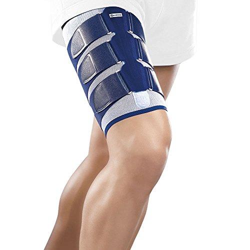 Bauerfeind Myotrain Supporto in Neoprene per coscia da lesioni del tendine del garretto a compressione per braccio, Benda elastica per ridurre il gonfiore, il dolore velocizzare la guarigione comodo Velcro