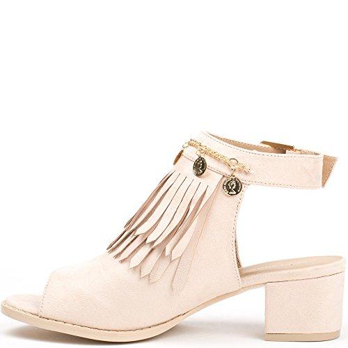 Ideal Shoes, Damen Stiefel & Stiefeletten Rose