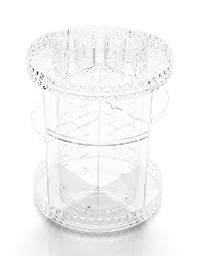 Étui cosmétique HWF Boîte de Rangement rotative Transparente Étagère en Plastique Étui de cosmétique Organisateur