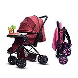 LYQGJXW Pushchair Stroller Combi Stroller Buggy Baby Jogger Travel Buggy Kid'S Stroller Foldable