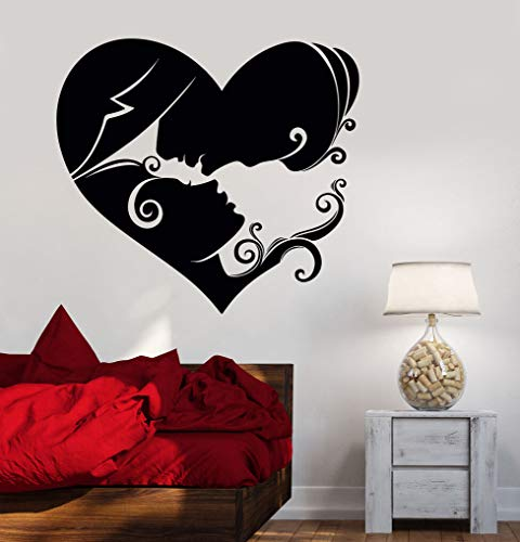 YIYEBAOFU Pet Wall Art Stickersabstract Paar Liebe Sein Liebespaar Ehe Nordic Schlafzimmer Decorationvinylpvc42X46Cm