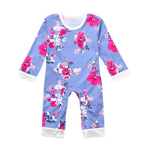 i-uend Baby Christmas Pyjamas - - Neugeborenes Baby Mädchen Kleidung Langarm Strampler Overall Floral Outfits Kleidung für 3-24 Monate