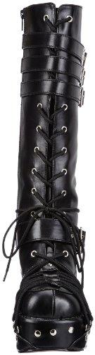 Demonia CHARADE-206 Damen Stiefel Schwarz (Blk Vegan Leather)
