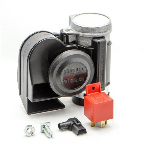 Preisvergleich Produktbild Stebel 11690019 - Nautilus Compact Mini Air Horn Black by Stebel