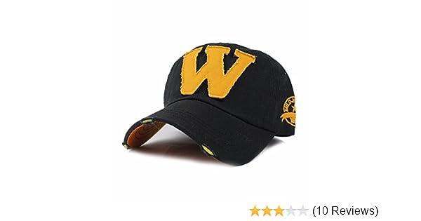 FRIENDSKART Men s Embroidered Letter W Baseball Cap Snapback  Caps Distressed Wearing Fitted Bone Casquette Hat ce2a09c6f8c6