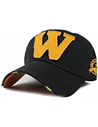 8527a5f8238 FRIENDSKART Embroidery Letter W Baseball Cap Snapback Caps Bone casquette  Hat Distressed Wearing Fitted Hat For