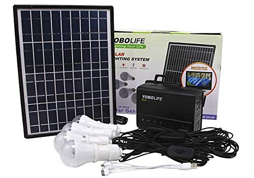 Tutoy Lm-3606 110-220V 4Usb Solarkollektor Generator System Mit Led Leuchte Paneele
