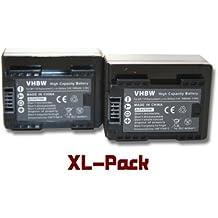 vhbw 2 x Li-Ion batería 1600mAh (3.6V) para videocámara cámara de video Canon Legria HF R66, HF R68, HF R606 por BP-718.