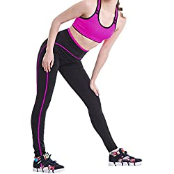 Mujeres Leggings Ejercicios Fitness Con Jogging Yoga Pantalones Rose M