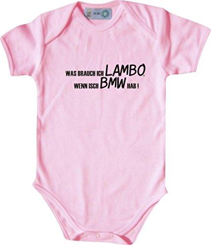Unbekannt Lustiger Baby Body mit Druck/was Brauch Ich Lambo, Wenn Isch BMW Hab! / Farbe: Babyrosa/Größe: 50-56 (1-2 Monate)