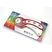 Rollenschneider, 45mm ergonomischer Softgriff–Höchste Qualität Japanischer Stahl SKS 7Rotary blades- perfekt für Quilten & Schneiden Stoff, Papier, Leder, und mehr. rot