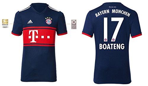 Trikot Kinder FC Bayern 2017-2018 Away BL - Boateng 17 (176)