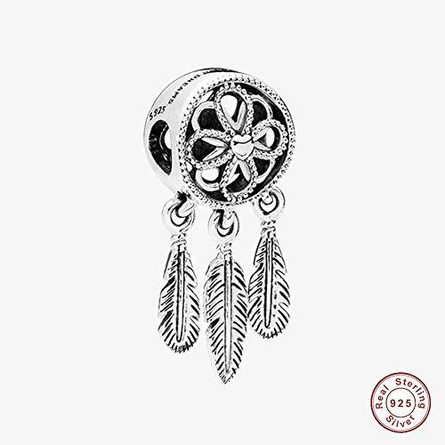 BAKCCI 2018 - Atrapasueños espiritual, plata de ley 925, compatible con pulseras Pandora originales