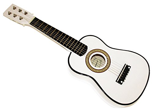 Cher Rystone 0754235506607�Strings 1/16�Children's Wooden Toy Guitar 23�inch White