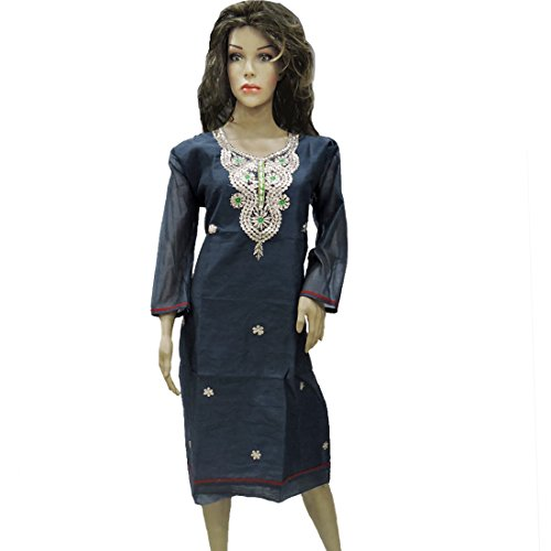 Ratnatraya Cotton Navy Blue Kurti for Women | Party Wear Designer Straight Kurtis for Girls and Gift
