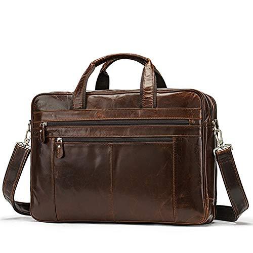 LMSHM Aktentasche Für Männer Echtes Leder Laptop Totes Große Messenger Business-Taschen Für Dokument
