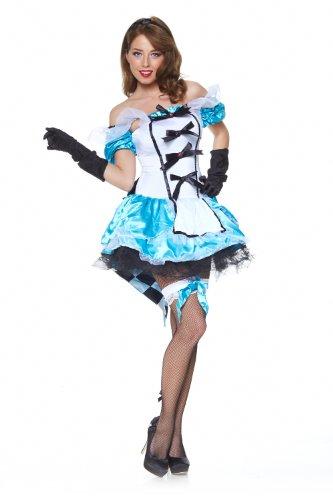 Alice Königin Kostüm Im Wunderland (Deluxe-Kostüm ALICE IM WUNDERLAND,)