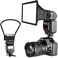 SHOPEE Camera Speedlite Flash Softbox and Reflector Diffuser Kit for DSLR Cameras Flashes