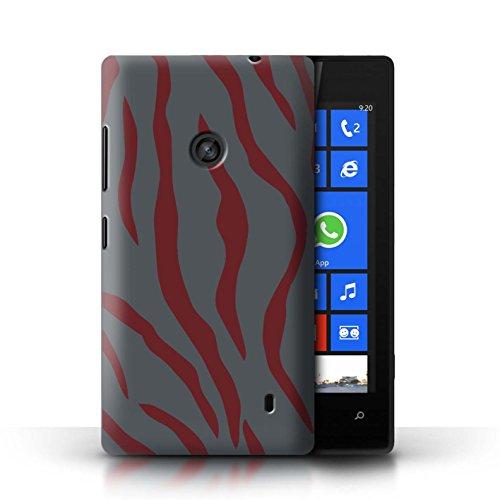 Stuff4® Hülle/Case für Nokia Lumia 520 / Roter Tiger Videospieler Muster/Militär Camouflage Tarnung Kollektion