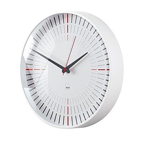 Sigel WU110 moderne, große Design Funk-Wanduhr, Modell cana, weiß, Ø 36 cm, reddot design award 2014 Gewinner