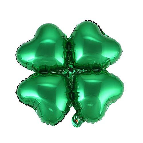 BESTOYARD Herzform Luftballons Vier Kleeblatt Folienballons Party Ballon Dekor für St. Patrick's Day Hochzeit Geburtstag Irish Festival 12 Stücke (Dekor St Patricks Day)