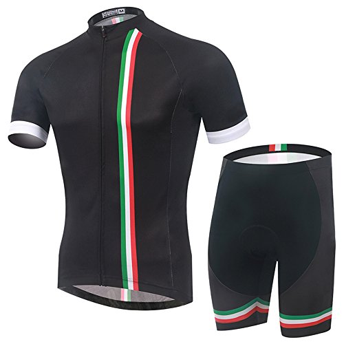 SPOZ MEN ITALY FASHION CYCLING GEL PAD JERSEY SET XL