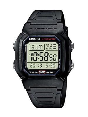 Casio W-800H-1AVES: Reloj digital con correa de goma