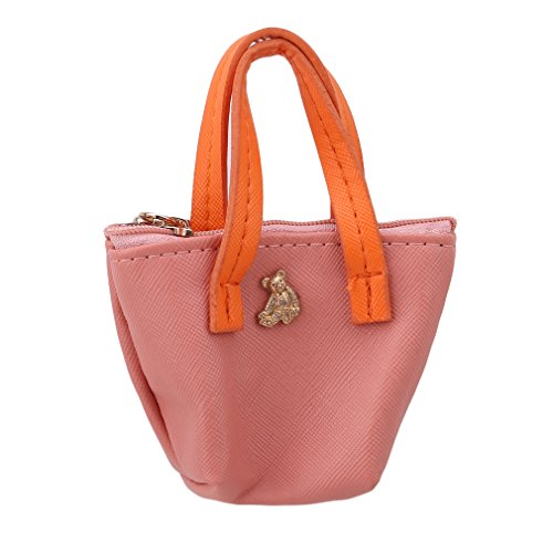 L_shop Candy Farbe Damen Handtaschen Geldbeutel Netten Münzen Beutels Elegant Süß Leder Geldbörse,Leder,Hellrosa (Geldbeutel, Handtasche Multi Farbe)