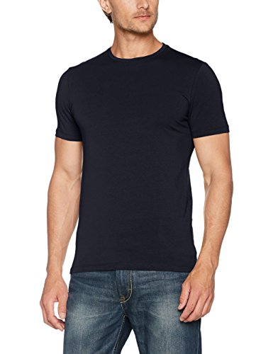 s.Oliver BLACK LABEL Herren T-Shirt Kurzarm, Blau (Dark Navy 5958), Large (Black Herren Label T-shirts)