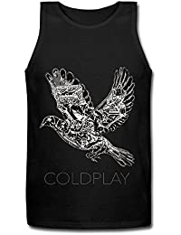 Coldplay Band Bird Rock Logo Men's T-Shirt Black Tank Top XXXX-L