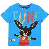 Bing Bunny T-Shirt Bambino Blu | Maglietta di Cotone A Maniche Corte | Magliette E T-Shirt per Bambino, Bambina | Regalo per Ragazzi | T-Shirt Unisex-Bambini Character Top