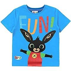 Idea Regalo - Bing Bunny T-Shirt Bambino Blu | Maglietta di Cotone A Maniche Corte | Magliette E T-Shirt per Bambino, Bambina | Regalo per Ragazzi | T-Shirt Unisex-Bambini Character Top (2/3 Anni)