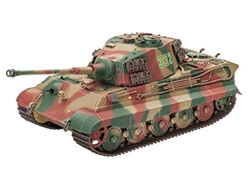 Revell Modellbausatz Panzer 1:35 - TigerII Ausf.B (Henschel Turret) im Maßstab 1:35, Level 4